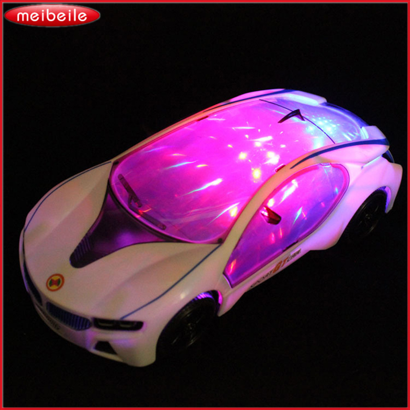 3D Electric Toy Car toy Light With Music Automatic Matrix Electric RC Car Chidrens Toy