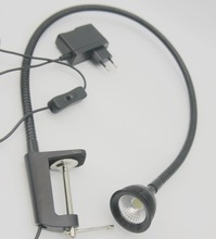 3W Cob Led Desk Clip Tool Lamp or Work Bench CNC Machine With Plug Free Shipping цена в Москве и Питере