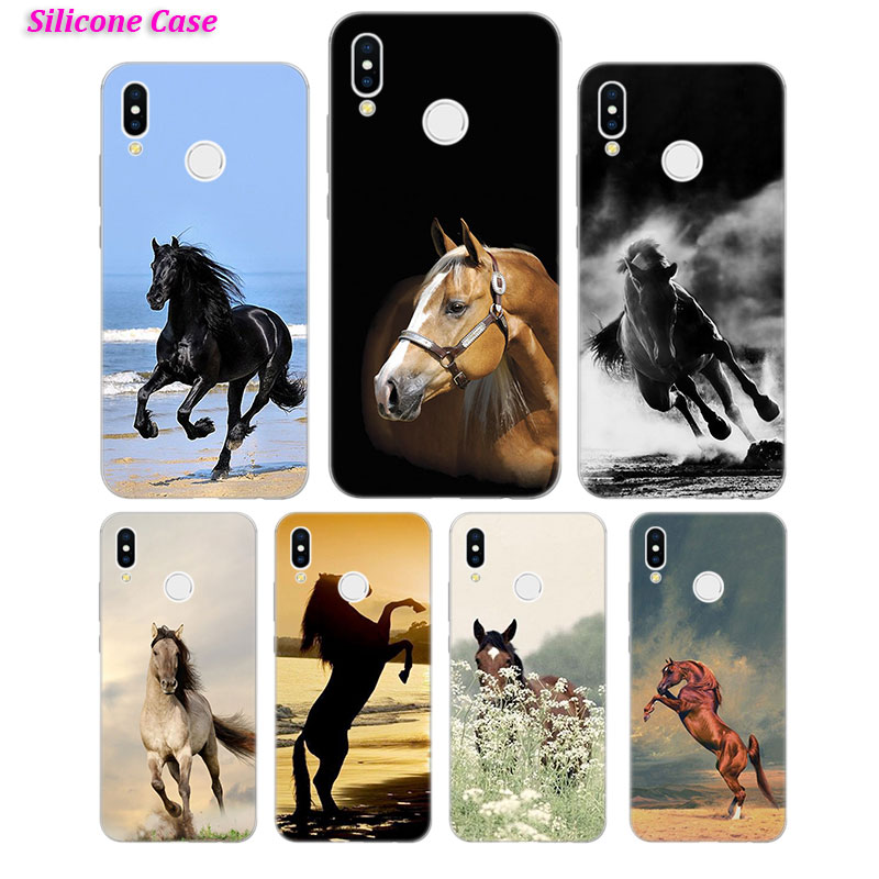 Silicone Case Fine horse art for Huawei P Smart 2019 Plus P30 P20 P10 P9 P8 Lite Mate 20 10 Pro Lite Nova 3i Cover