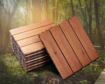 32 36 40 44 48 ชิ้นกลางแจ้ง,ชั้น decking,Carbonized ไม้ - DISCOUNT ITEM  31% OFF บ้านและสวน