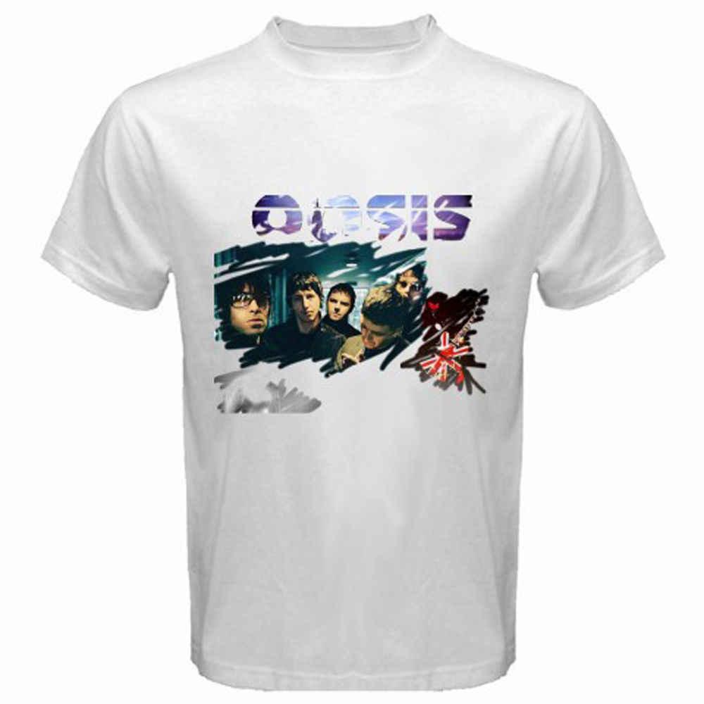 جديد احة البريطانية لموسيقى الروك نويل ليام غالاغر رجل تي شيرت أبيض حجم S إلى 3XL 2018 جديد قمصان قصيرة الأكمام تي شيرت