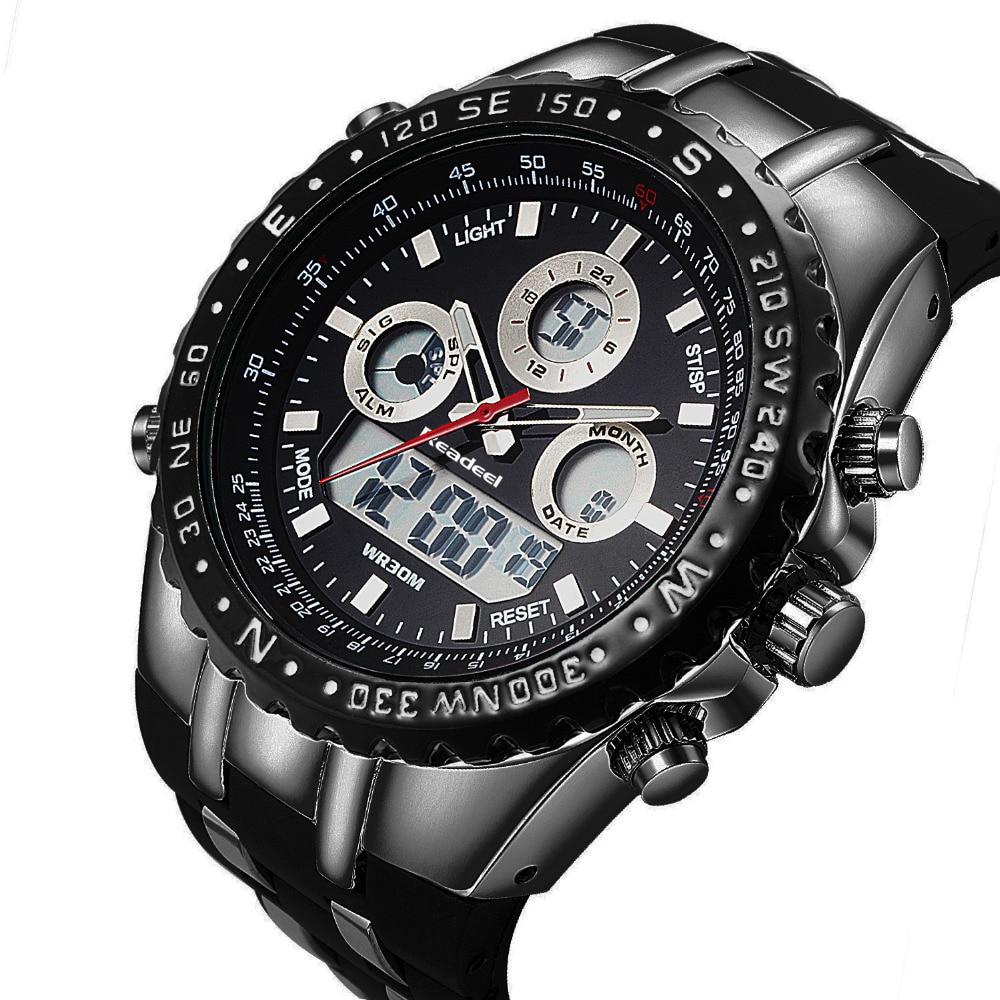 Readeel Brand Sport Wrist Watch Men's Military Waterproof Watches Silicone LED Digital Watch Men Quartz Wristwatches Male Clock