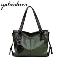YABEISHINI 2018 Luxury Handbags Bags for Women Large Capacity Ladies Hand Bags Vintage Tote Women Bags Designer Leather Handbags