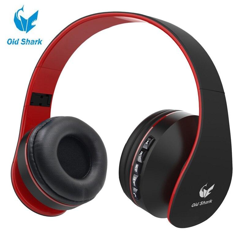 bilder für OldShark Faltbare Bluetooth Über ohr Kopfhörer für Kinder, On-ear Wireless Headset für Erwachsene Eingebautem Mikrofon Mit 3,5mm Audio Kabel