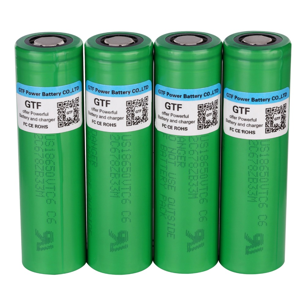GTF VTC6 3.7V 18650 Battery 3000mAh rechargeable Li-ion battery for US18650VTC6 30A For Electronic cigarette toy tool flashlight 100% vtc6 3 7v 3000 mah 18650 li ion rechargeable battery 30a discharge for sony us18650vtc6 batteries diy nickel sheets
