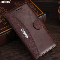 For Microsoft Nokia 6 Case Luxury Coque With PU Leather Flip Cover Card Holder 5 5