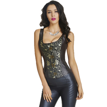 Sexy Lingerie Steampunk Corset Leather punk Corset Steel Boned Waist Trainer Corsets and Bustier Gothic Clothing Corpete Corsage