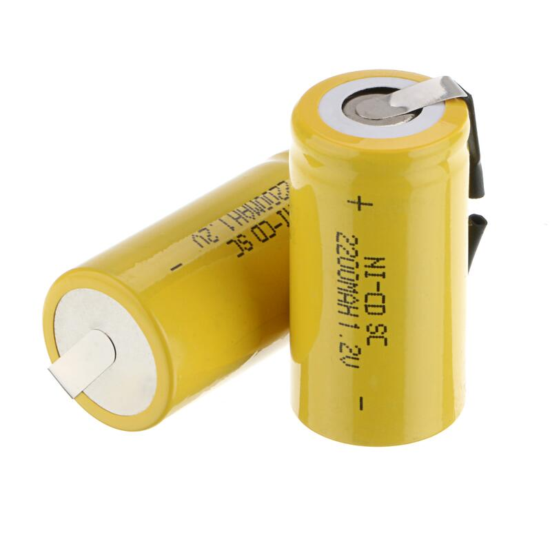 new arrival 30 pcs Sub C SC battery 1.2V 2200 mAh Ni-Cd NiCd Rechargeable Battery 4.25CM*2.2CM