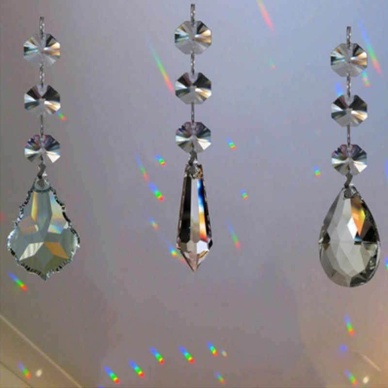ガラスクリスタルカエデの葉ランプ照明懸滴シャンデリア照明部分ペンダントドロップ家の装飾アクセサリー