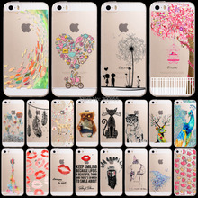 Free Shipping Phone Back Case For iPhone 6 4.7″ Ultra Soft TPU Painted Transparent Case Cover Skin WHD1242 23-40