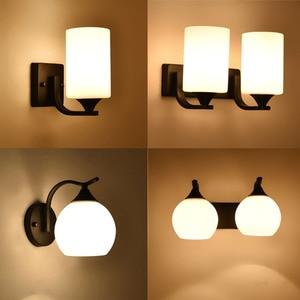 Image 1 - HGhomeart Vintage Wall Light Luminaria Bedside Reading Lamp LED E27 bulb Retro Wall Lamp Bedroom Wall Lighting Contemporary