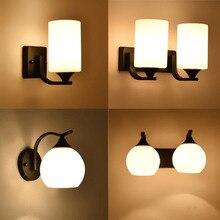 HGhomeart Vintage duvar ışık Luminaria başucu okuma lambası LED E27 ampul Retro duvar lambası yatak odası duvar aydınlatma çağdaş
