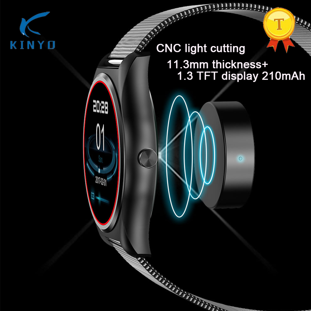 Wireless Charging Smart Watch 1.3 Inch MTK2502 HD Slim Bluetooth Smartwatch Heart Rate Monitor Fitness Tracker For Android IOS цена