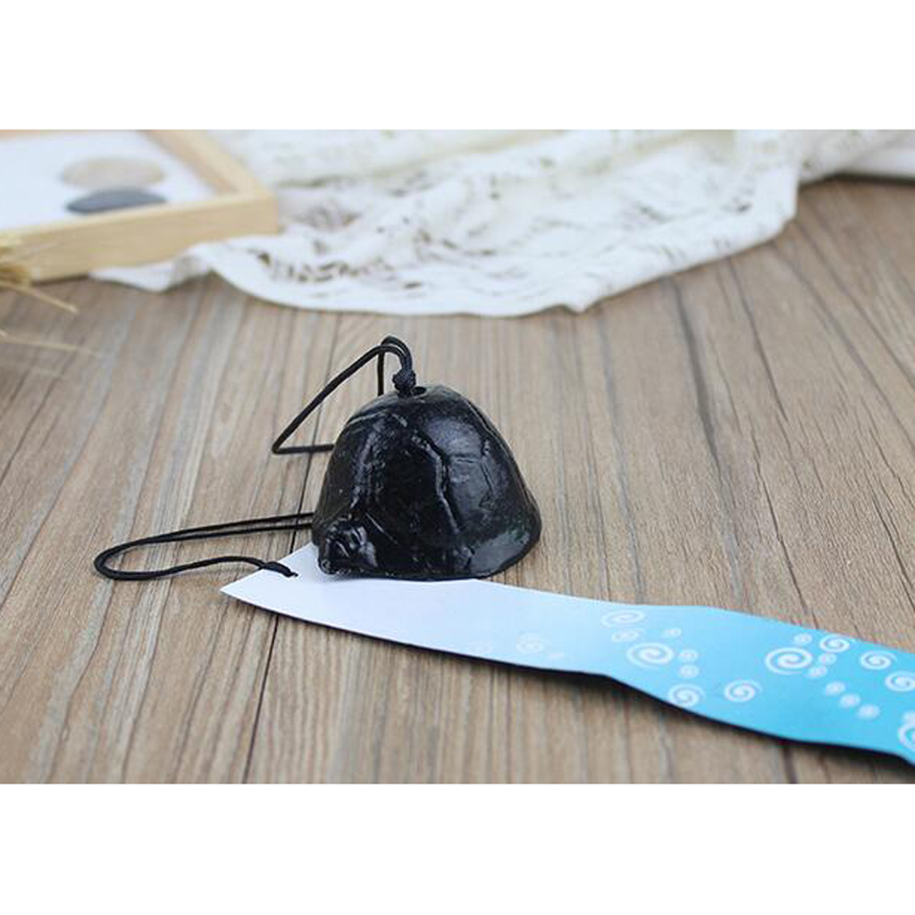 Turtle Japanese Cast Iron Furin Wind Bell Chime Garden Balcony Temple Decor ...