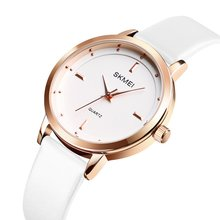 SKMEI  Women Watch Fashion Trendy Leather Strap Quartz Watch 30m Waterproof Casual Sport Wrist Watch Models Relogio Watches цена