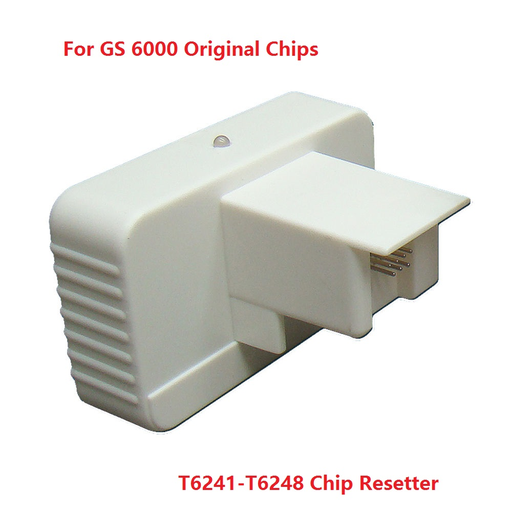 Chip resetter  for GS6000,T6241-T6248 genuine ink cartridge chips for epson stylus pro 4000 refill ink cartridge with resettable chip and chip resetter 8 color 300ml