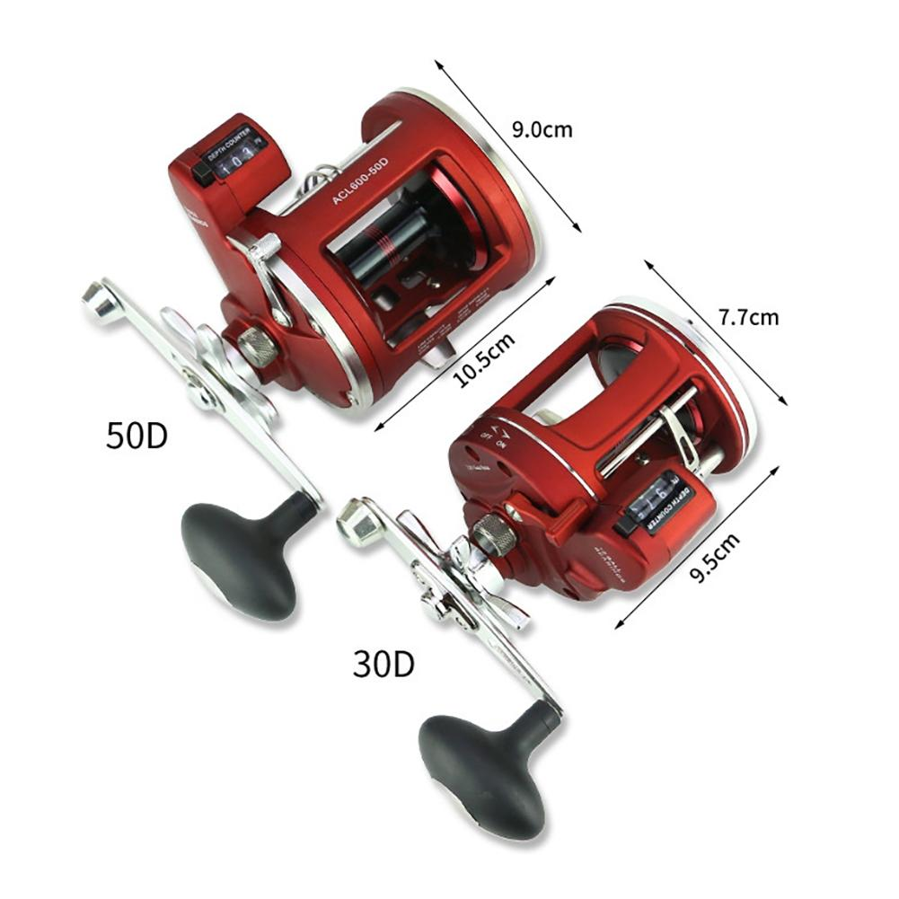 12+1BB Round Baitcast Reel with Counter Left/Right Hand for Jigging Trolling in Saltwater sougayilang metal round jigging reel 6 1 ratio saltwater trolling drum reels right hand fishing sea coil baitcasting reel