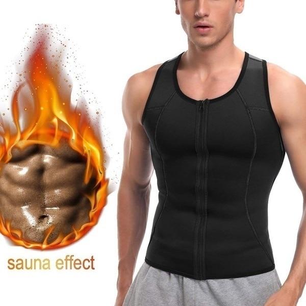 Men Waist Trainer Vest Weightloss Hot Neoprene Corset Compression Sweat Body Shaper Slimming Sauna Tank Top Workout Shirt