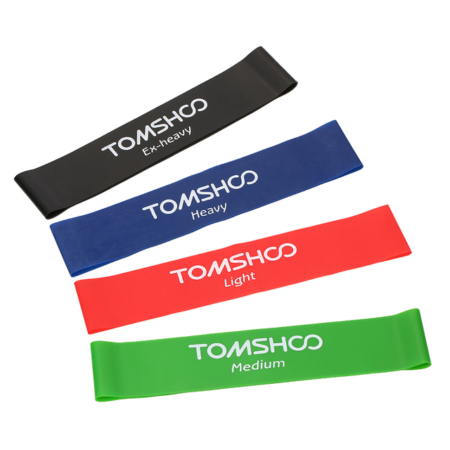 3a236839e9d0 TOMSHOO Fitness Rubber Pull Up Strength Resistance Bands Gym Training  Sports Exercise Loop Bands Workout Bands Power Latex