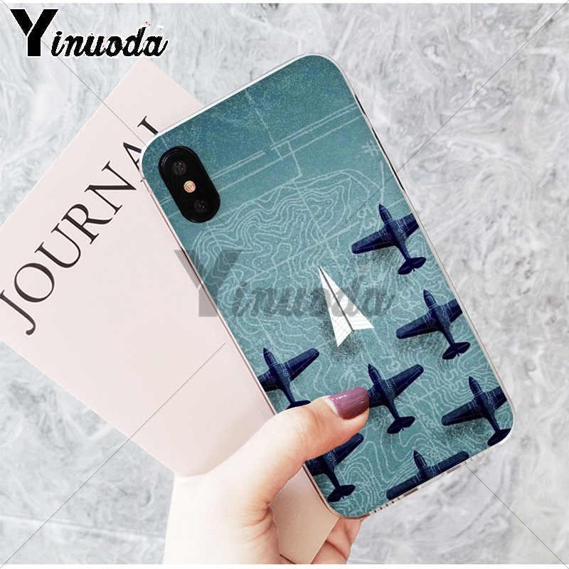 Yinuoda กระดาษเครื่องบินหรูหราออกแบบโทรศัพท์ที่ไม่ซ้ำกันสำหรับ Apple iPhone8 7 6 6S PLUS X XS MAX 5 5S SE XR 11 11pro 11 PROMAX