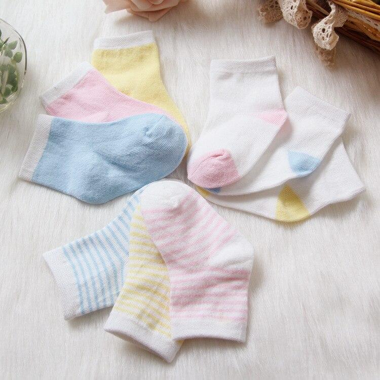 3 Pairs 0-12 Months newborns baby boys girls childrens kids socks a lot Cotton Newborn Socks Infant Baby Socks