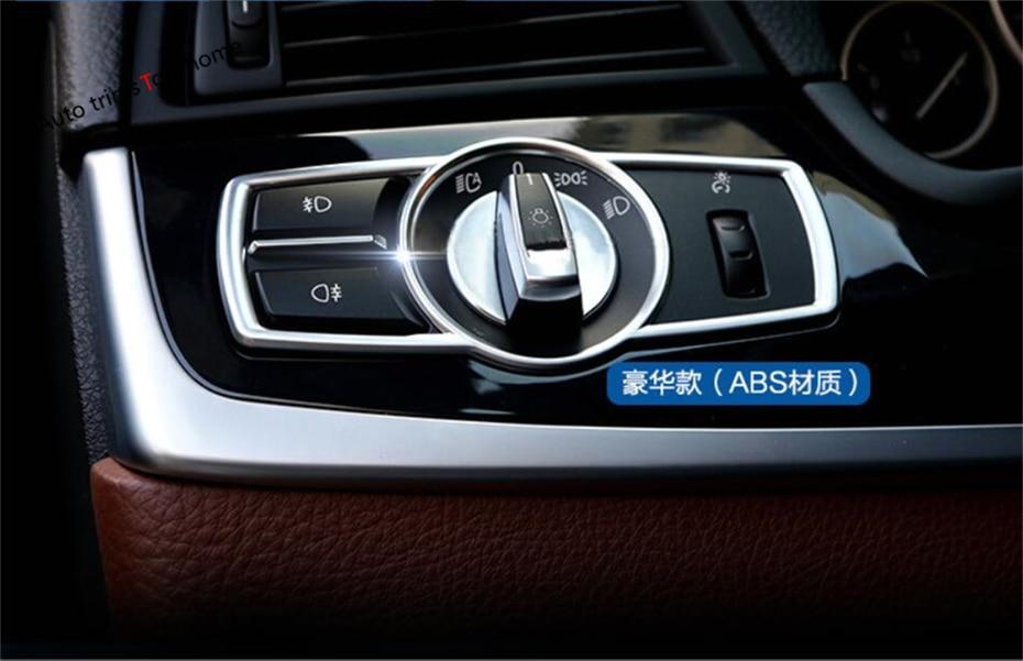 Yimaautotrims Interior Untuk BMW X3 F25 / X4 F26 2012 2013 2014 2015 2016 2017 ABS Lampu Depan Suis Bingkai Bingkai Bingkai ABS