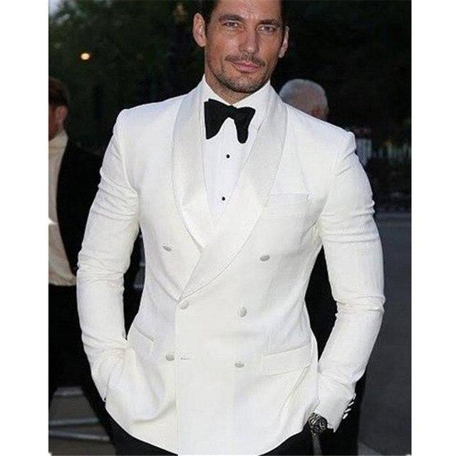 2017 Summer Style Double Breasted Men Suit Groom Tuxedo Bespoke ...