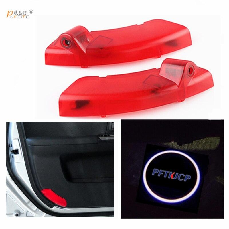 все цены на 2/pcs car projector logo lights door Ghost shadow light For KIA door for Cerato 2010-2015 car styling