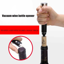 Air Pressure Red Wine Opener, Bottle Pumps Corkscrew Cork Out Tool Stainless Steel Corkscrews and Wine Opener stainless steel thickened red wine bottle opener corkscrew red silver