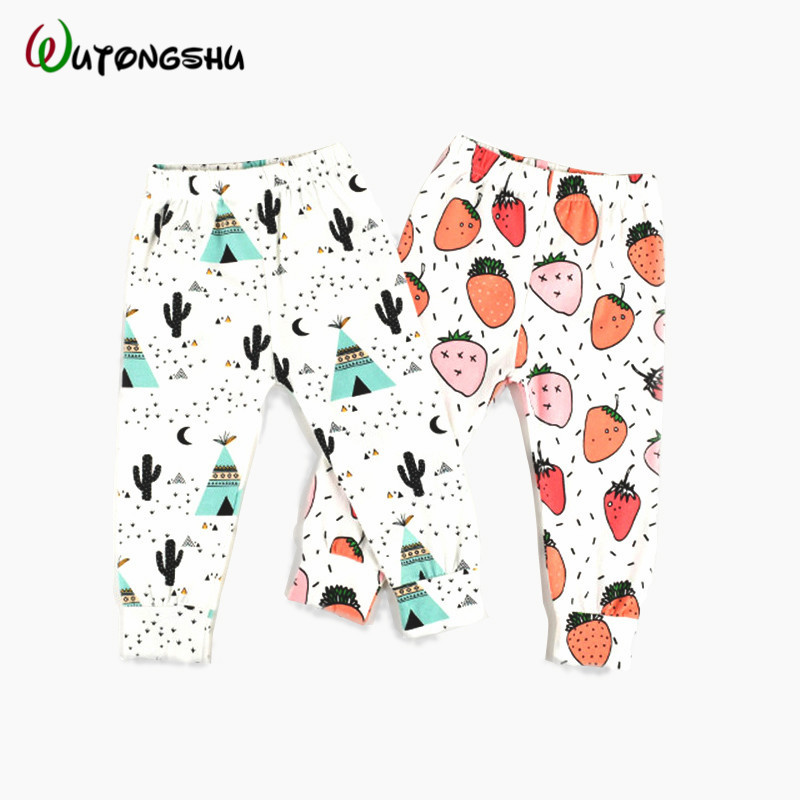 Fashion Baby Boy & Girl Pants Leggings For 0-2T Baby Harem PP Pants Cotton Character Baby Trousers Newborn Kid Boy Girl Clothing