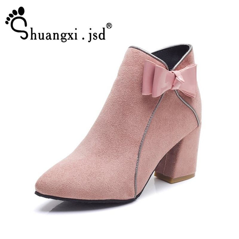 Fashion Suede Women Shoes High 5CM 2017 New Pink High-heeled Women Boots Normal Size 35-39 Zapatos Mujer Chaussure Femme car styling tail lights for toyota land cruiser fj200 2007 2012 led tail lamp rear trunk lamp cover drl signal brake reverse