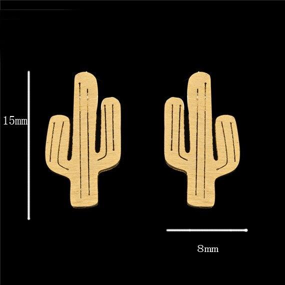 Kolczyki minimalistyczne Cactus 2 kolory