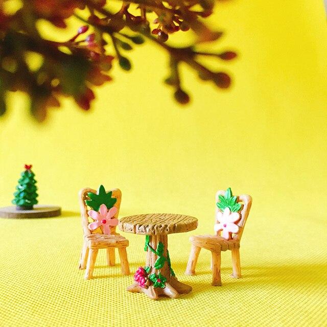 1 Table Chair/fairy Garden Gnome/moss Terrarium Home Decor/bonsai/bottle
