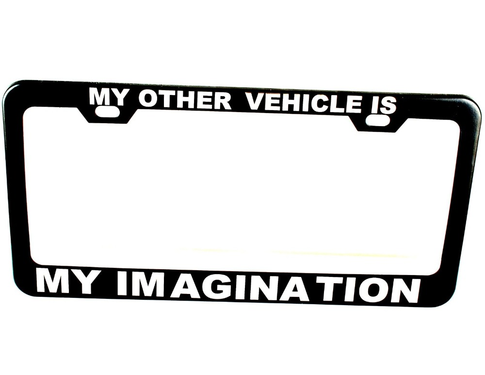 personalized license plate frame tag custom black plate. Black Bedroom Furniture Sets. Home Design Ideas