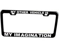 Personalized License Plate Frame Tag Custom Black Plate Frame Holder Steel Metal Text Engraved 8z1141