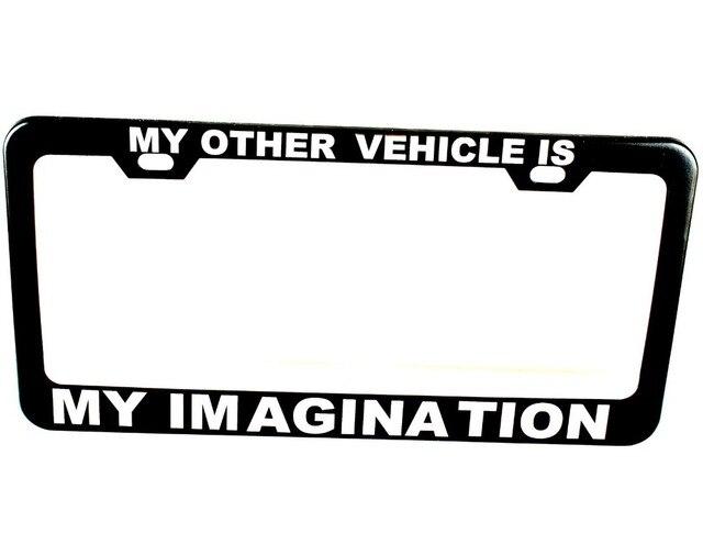 Personalized License Plate Frame Tag Custom Black Plate Frame Holder ...