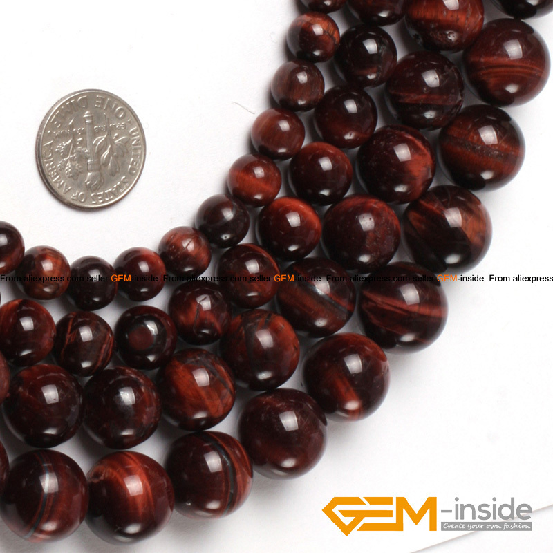 """Red Tiger/'s Eye Gemstone Round Beads For Jewelry Making 15/"""" 6mm 8mm 10mm 12mm"""