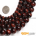 "Round Red Tiger Eye,Natural Stone Beads,Selectable Size 6mm To 14mm,Fashion DIY Beads,For Man Bracelet,Strand 15"" Free Shipping"