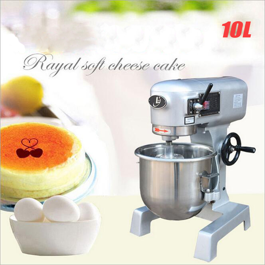 1PC B10GF pastry pizza breads making machine cakes mixer blender,baking cake mixer,egg mixer,noodle machine mini cream10L