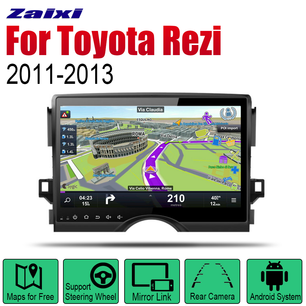 ZaiXi Auto Player GPS Navigation For Toyota Rezi Mark 2011 2013 Car Android Multimedia System Screen Radio Stereo in Car Multimedia Player from Automobiles Motorcycles