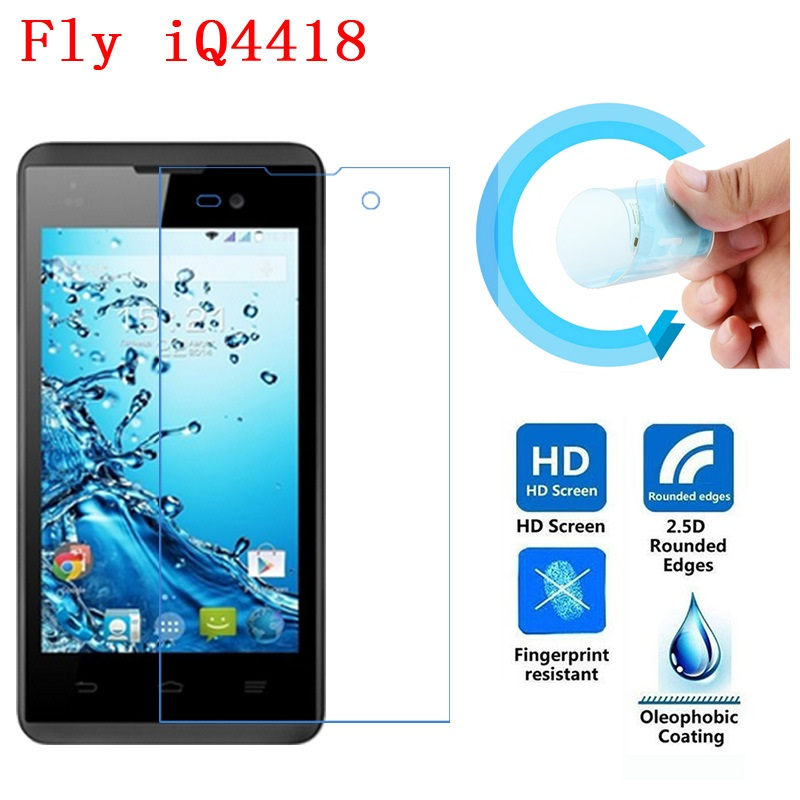 Fly IQ4418 Screen Protective Film, 2.5D Ultra-Thin HD Clear Soft Pet Screen Protector Film for Fly IQ4418 Era Style 4
