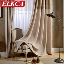 japan style greycoffee jacquard thick faux linen curtains for living room window curtains for