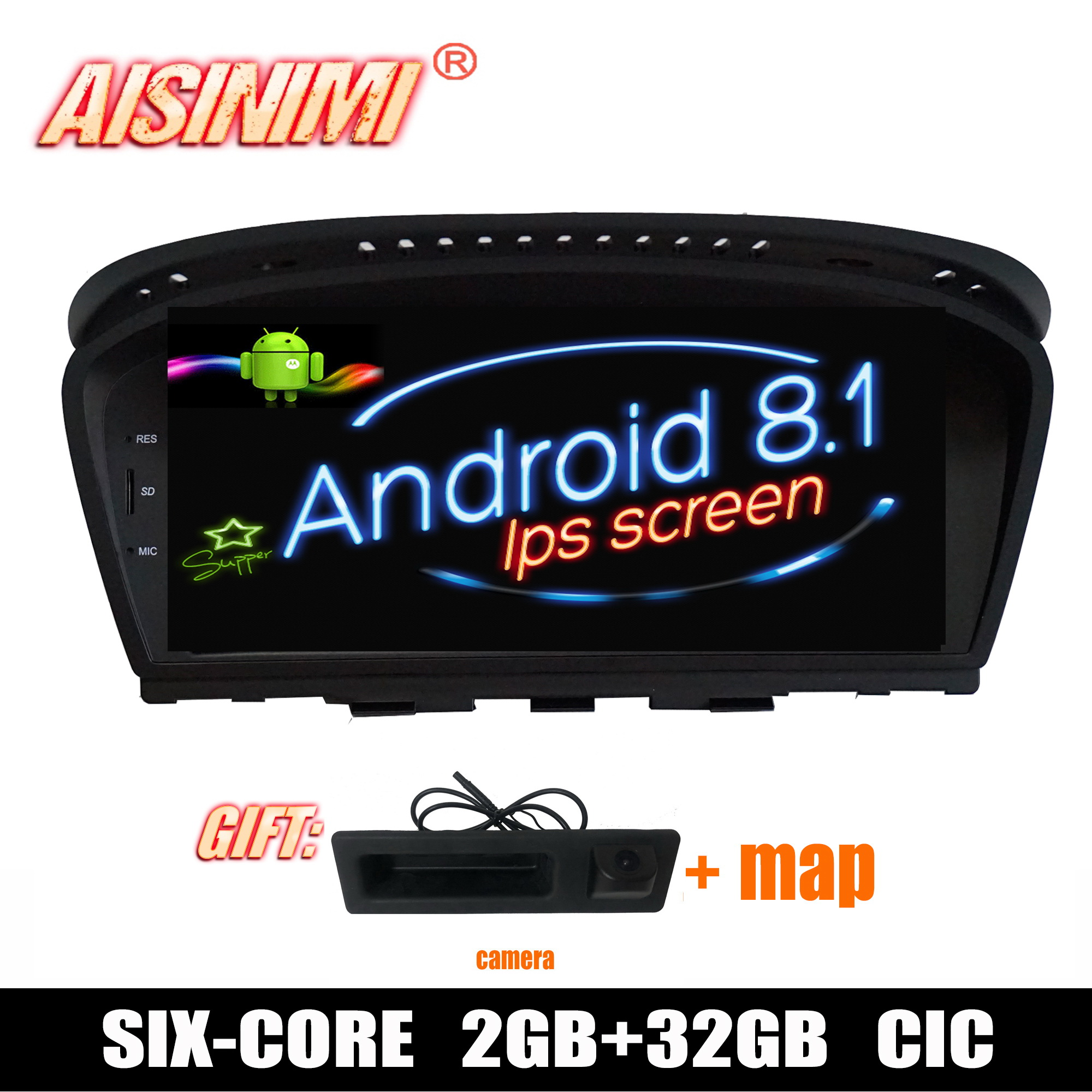 Android 8 1 Car Dvd Navi Player FOR BMW 3 Series BMW 5 Series E60 E61