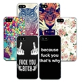 Soft  Silicone Ultra Thin TPU Case Capa for iphone 4 4S 5 5S 5SE 6 6S 7 7 PLUS Cute Animals Pattern Phone Back Skin Cover Shell