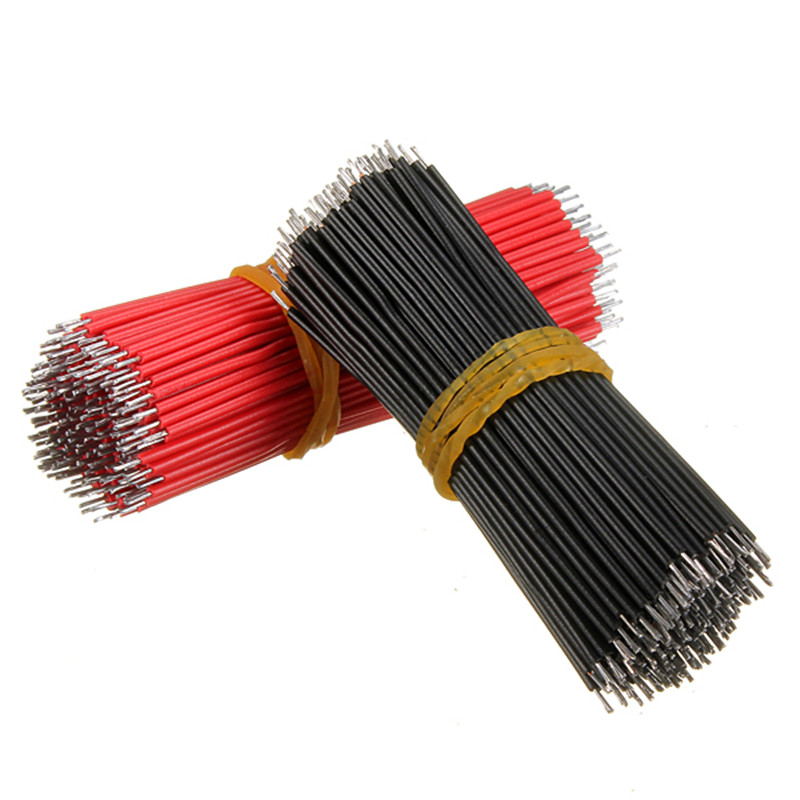 New Electric Unit 400pcs Motherboard Breadboard Jumper Cable Black And Red Electronic Wires Tinned 6cm Electronic Components