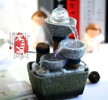 Small fountain water features feng shui wheel desktop decoration home