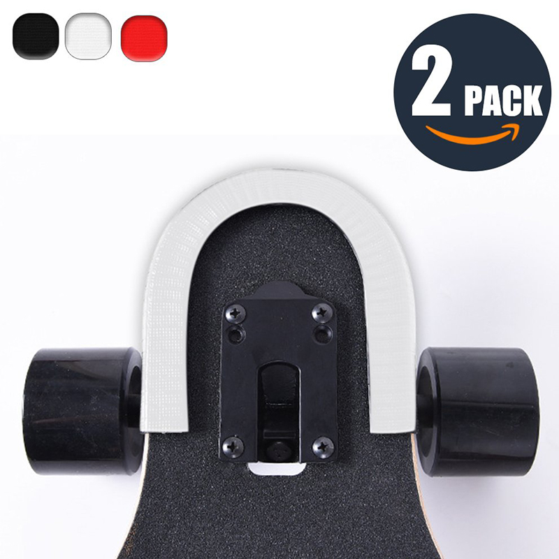 2 Pcs 30cm Skateboard Anti-collision Strip Bumper Bump U Shape Rubbe Deck Guards Protector for Longboard and Double Rocker Strip