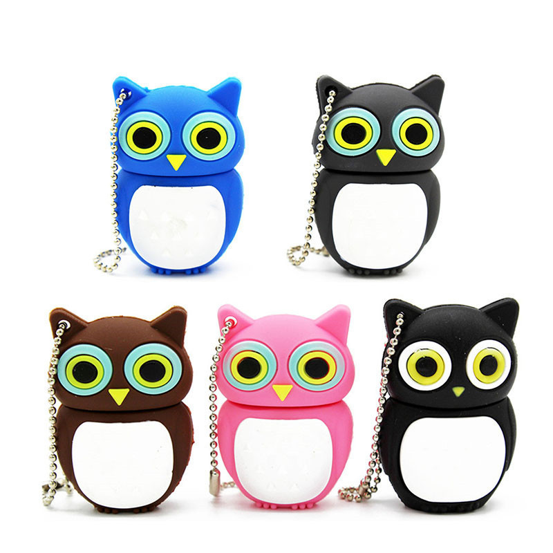 Cute Cartoon Animal Owl Pendrive 4GB 8GB 16GB 32GB  Stick USB Flash Drive