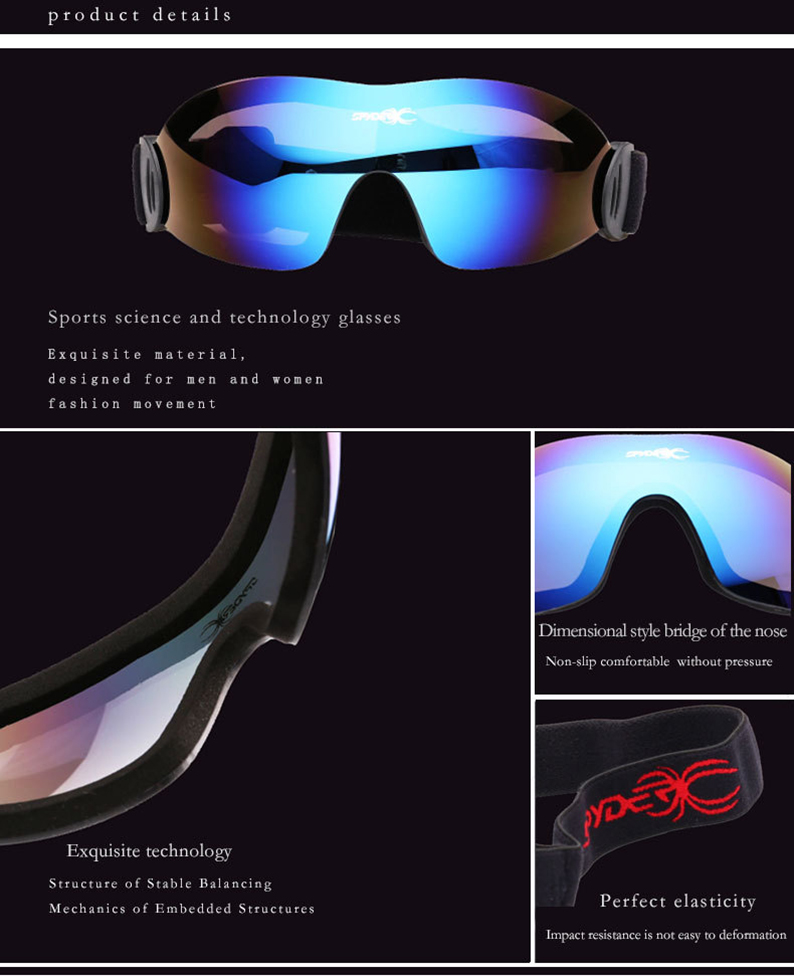 Quality Skiing Goggles HD colorful Ski Glasses frameless skiing glasses snowboard men women snow snowboard goggles 11