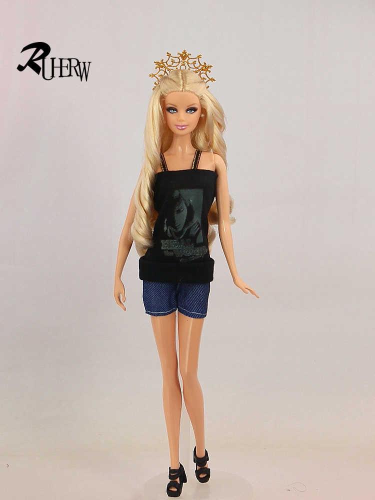 """5 шт./партия, новые модные костюмы, одежда, комплект одежды из куртки и штанов высокого качества, платье для куклы Барби 11,5 """", бесплатная доставка"""